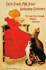 Food Cat Milk Kitchen Cheese Harlowton Creamery Vintage Poster Repro FREE SH