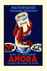 Mayonnaise Food Lobster Salad Eggs Kitchen French Vintage Poster Repro FREE S/H