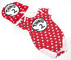 Newborn Hot Red White Polka Dot Circles Things-#2 Baby Jumpsuit Romper NB-12M