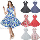 Maggie Tang 50s 60s Vintage Drancing Swing Rockabilly Dress Skirt Ball Gown 512