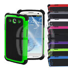 Armor Shock Proof Hard Cover Case For Samsung Galaxy S3 S 3 S III S4 4 SIV S IV
