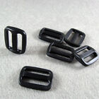 "10/50 pcs Black plastic Triglides Webbing Strapping Slides for 1"" webbing RZ-25"