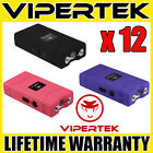 (12) VIPERTEK VTS-880 60 Million Volt Mini Stun Gun 3 Colors Mix - Wholesale Lot