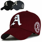 Big size hat Mens baseball cap Maroon ball cap XL Size hats with A Letter