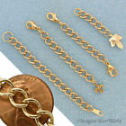 Custom GOLD Finished/Tone Extender Chain for heavy jewelry - safety adjustable +