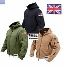 TACTICAL MILITARY RECON FLEECE &  UNION JACK & ROYAL NAVY ENSIGN VELCRO BADGES