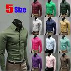 New Mens Cotton Slim Stylish Casual Dress Shirts Tee Tops Fashion new style