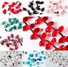20/140pcs Faceted Glass Crystal Spacer Teardrop Finding Beads Jewelry DIY 5x10mm