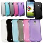TPU Silicone Gel Skin Case Cover For Samsung Galaxy S4 i9500 i9505 Screen Guard