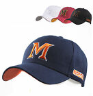 Mens Baseball cap Casual hats Sports caps unisex hat with M letter