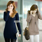 S0BZ New 5 Colors Women's Double Pockets Knitwear V Neck All-match Sweater Tops
