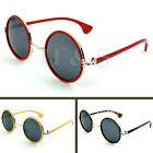 Steampunk Sunglasses 50s Round Glasses Cyber Goggles Vintage Retro Style Hippy A