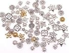 New 50g(about 150pcs) mixed silver/golden Flower Caps For Jewelry making