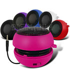 HOT PINK COMPACT 3.5MM CAPSULE SPEAKER FOR MOST MOBILE PHONES