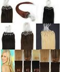Remy Human Hair Extensions Easy Loop micro rings beads tipped 100s grade AAAA