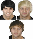 Mens 60s 70s 80s 90s Pop Star Boy Band Short Wig Fancy Dress Costume Accessory