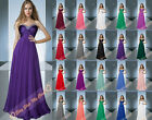 New Bridesmaid Dress Prom Gowns Formal Party Evening Dress Cocktail Size 6-26