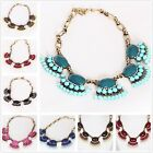 Fashion Gothic Women Bubble Fringe Bib Party Statement Necklace 34 styles