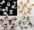 500pcs Fold Over End Cord Crimp Bead Cap 6/9mm For Jewelry Accessories