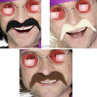 Mens Stick On Moustache Tash 60s 70s 80s Hippie Mexican Stag Night Fancy Dress