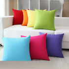 "Candy Colors Simple Design Micro Suede Pillow Case Cushion 19"" High Quality"