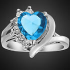Schmuck Fashion Women Jewelry Heart Cut Wedding Gift Engagement Ring Size 6/7/8