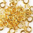 50/250pcs New Hotsale Round Mixed Copper Spring Necklace Clasps Fit Jewelry DIY