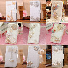 New Luxury Diamond Heart Bow Crown Butterfly PU Leather Case Cover For iphone 5