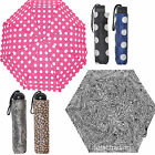 Ladies Womens Folding Umbrella Brolly Animal Spotted Ball Handle UU0186 UU0187