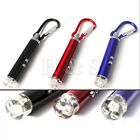 Top Quality 2in1 Mini LED Laser Keyring Torch Cat Toy Pen Pointer Camping Light