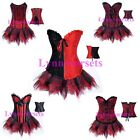Hot sale Burlesque Top Corset & TuTu Fancy Dress Halloween Costume Party Outfit