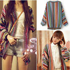 2014 Women Batwing Long Sleeve Boho Ethnic Knitwear Cardigan Top Sweater Outwear