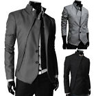 Men's Korean Two Button Irregular Slim Fit Blazers Coats Suits Jackets Outerwear