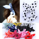 Fashion Cute Korean Rabbit Ear Bow Hair Tie Band Bracelet Ponytail Holder