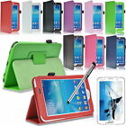"BOOK CASE COVER FOR SAMSUNG GALAXY TAB 3 P3200 P3210 7.0"" FREE SCREEN PROTECTOR"