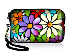 Flower Neoprene Digital Camera Case Bag Iphone Ipod Touch Pouch Coin Purse+Strap