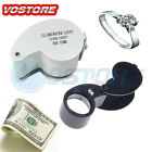 40x25mm Magnifying Magnifier Glass Jewellers Eye Foldable Jewelry Loop Loupe USA