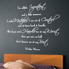 MARILYN MONROE I Am Selfish Impatient Wall Art Quote Wall Stickers Wall Decals