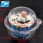 Plastic Clear Muffin Cupcake box/Pod Cake Container Carrier w Dome Lid US SHIP#c