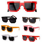 Retro Trendy Cool Pixel Unisex Glasses Pixelated Style Square Sunglasses 7 Color