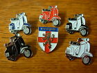 Vespa motor scooter pin badge. 5 colours plus Shield design