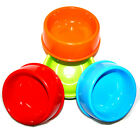4 Colors Bright Colorful Heavy Duty Pet Bowl Water Food Dog Cat Plastic BPA Free