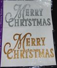 MERRY CHRISTMAS Window Cling Sticker Decoration Xmas Glass Gold or Silver