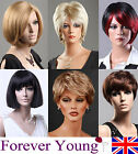 Ladies Short Wig Blonde Black Brown Wig Bob Curly Boycut Wedge Fashion Wigs