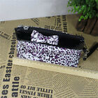 New Women Bowknot Leopard Print Handbag Day Shoulder Evening Bag Purse Wallet