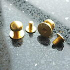 "5 10 20 50 Set Head Button Stud Screwback Leather bag spot 10mm 3/8"" 10RGD Gold"