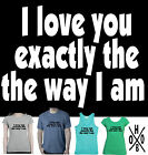Funny T-Shirts I love you ..wedding present Ladies Men's Single size top tee New