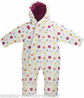 Trespass Babies Padded Snowsuit Warm Winter White Pink for Girls 6,12,18,24 mths