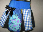 NEW Girls Cool  Black,blue,white,purple Monster Inc,Check Skirt,gift,party,Retro