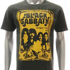 ASIA SIZE S M L XL BLACK SABBATH T-shirt Vtg Retro Rock Band Music Many Size